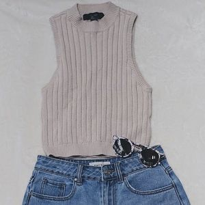 Tan Striped Tank Top from Forever 21